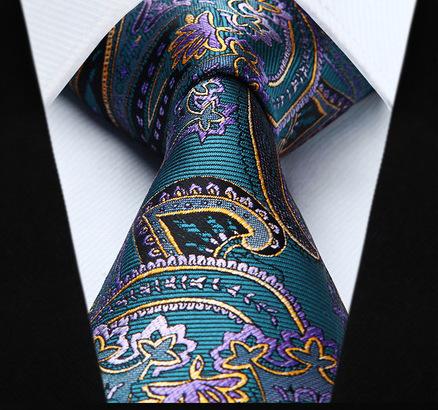 Elegantná pánska sada - kravata + vreckovka - č.1