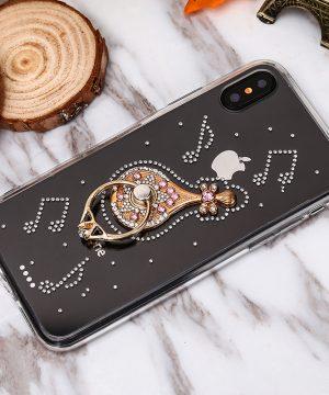 Silikónový kryt s gitarou a prsteňom pre iPhone 7 a iPhone 8
