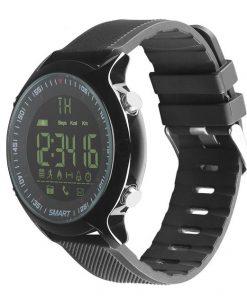 Vodotesné inteligentné bluetooth hodinky v čiernej farbe