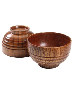 Elegantná protišmyková miska z prírodného dreva