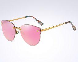 Elegantné moderné dámske slnečné okuliare v ružovo-zlatej farbe 3e2e3cf34ab