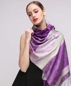 Elegantný dámsky bavlnený šál v troch rôznych farebných prevedeniach, 175 cm x 68 cm