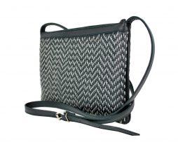 Kožená kabelka ručne vyšívaná v čiernej farbe ... 2788bcc0225