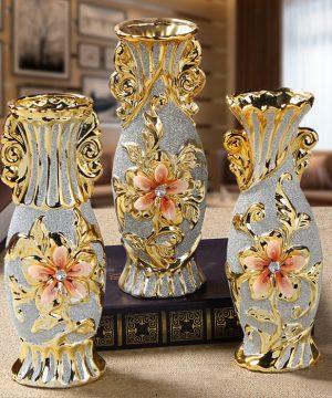 Luxusná vintage porcelánová kvetinová váza v troch rôznych variantoch, stredná