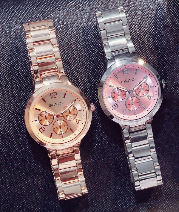 Luxusné dámske hodinky v dvoch rôznych farebných prevedeniach