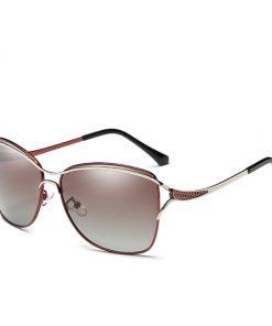 Luxusné slnečné okuliare v hnedom prevedení