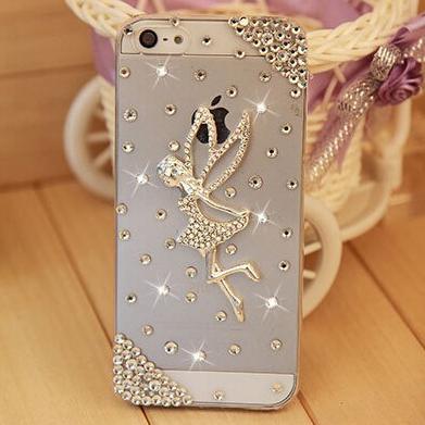 Luxusný kryt s vílou a kryštálikmi pre iPhone