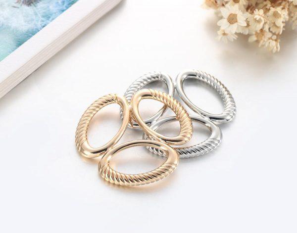 Luxusný trojprstenec v dvoch rôznych farbách