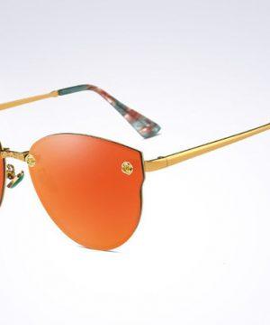 Moderné elegantné dámske slnečné okuliare v oranžovo-zlatej farbe