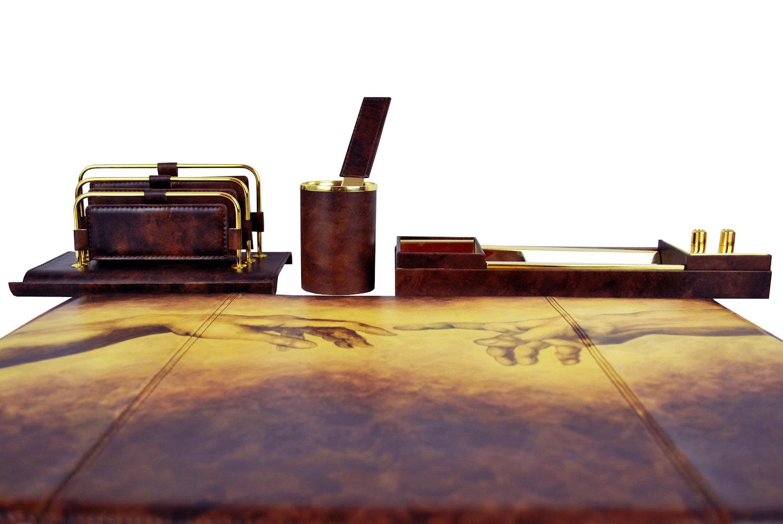 0a4a771b48 Ručne maľovaný kancelársky set 8086 inšpirovaný motívom Michelangelo ...