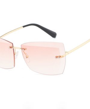 Štýlové slnečné okuliare pre dámy s ružovými sklami