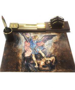 office set do kancelárie, kožený set,maľovaný, maľba na kožu, maľovaný kancelársky set, nôž do kancelárie, office, office kožený set, office set, ručná maľba, Ručne maľovaný kancelársky set (1)