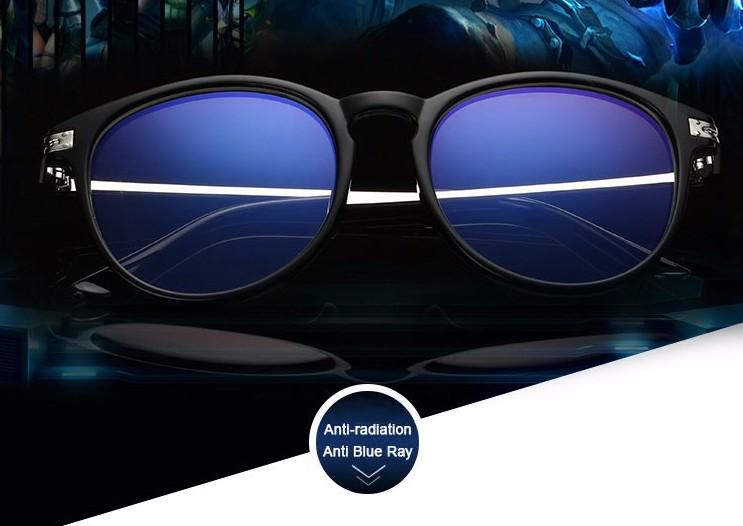 Moderné okruhlé priehľadné okuliare na prácu s počítačom s čiernym rámom ·    Predošlé ... 5808ea52035