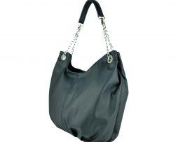 Luxusná dámska kožená kabelka v čiernej farbe 17dc5447058