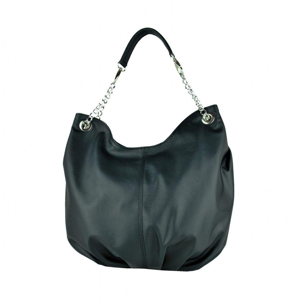 c41fa7cb3f Luxusná dámska kožená kabelka v čiernej farbe · Luxusné a módne šperky