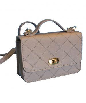Luxusná dámska kabelka crossbody 8679 vo svetlo béžovej farbe