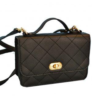 Luxusná dámska kabelka crossbody 8679 v čiernej farbe