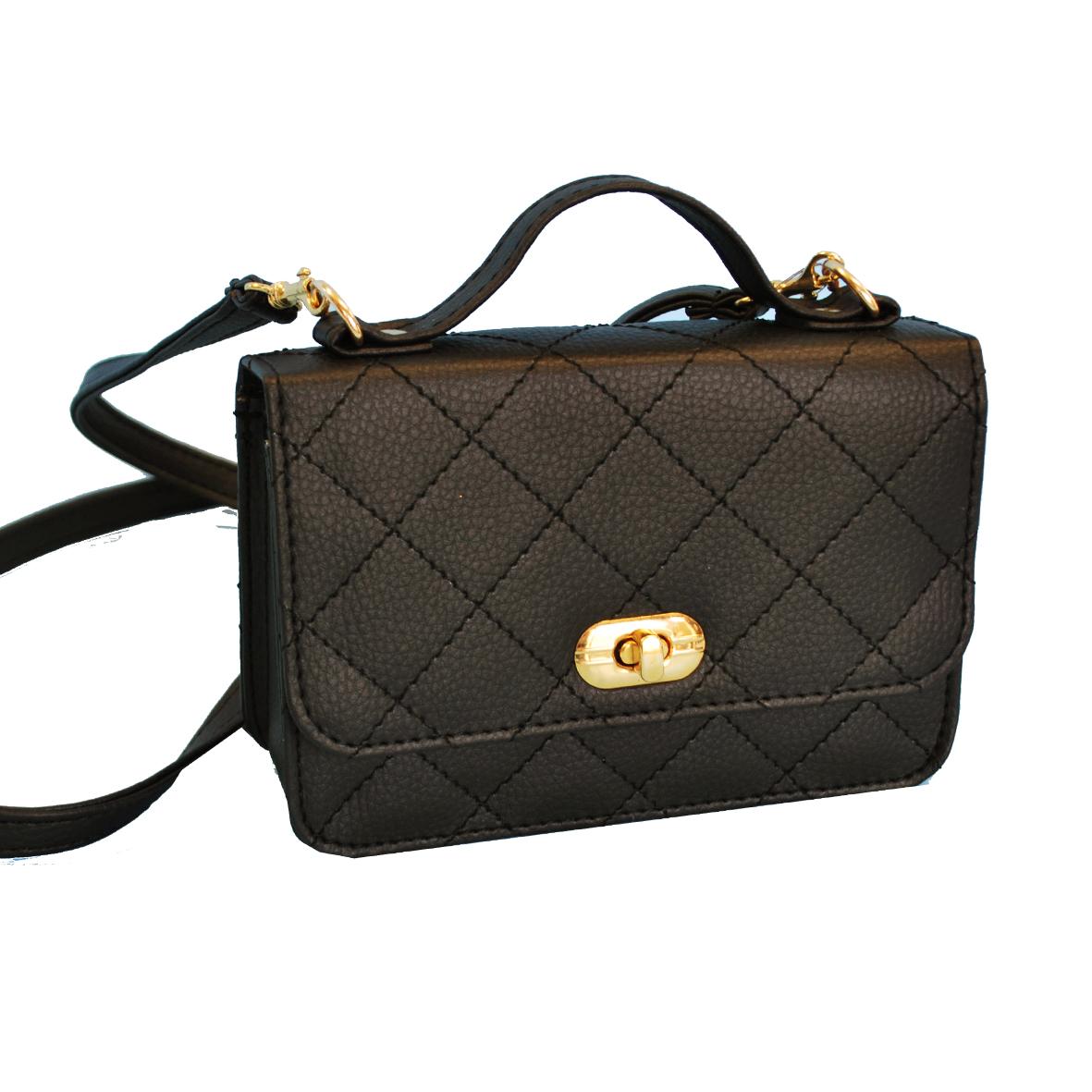 Luxusná dámska kabelka crossbody 8679 v čiernej farbe  af28526431d