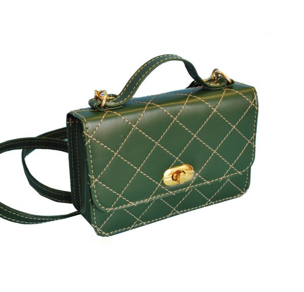 Luxusná dámska kabelka crossbody 8679 v zelenej farbe