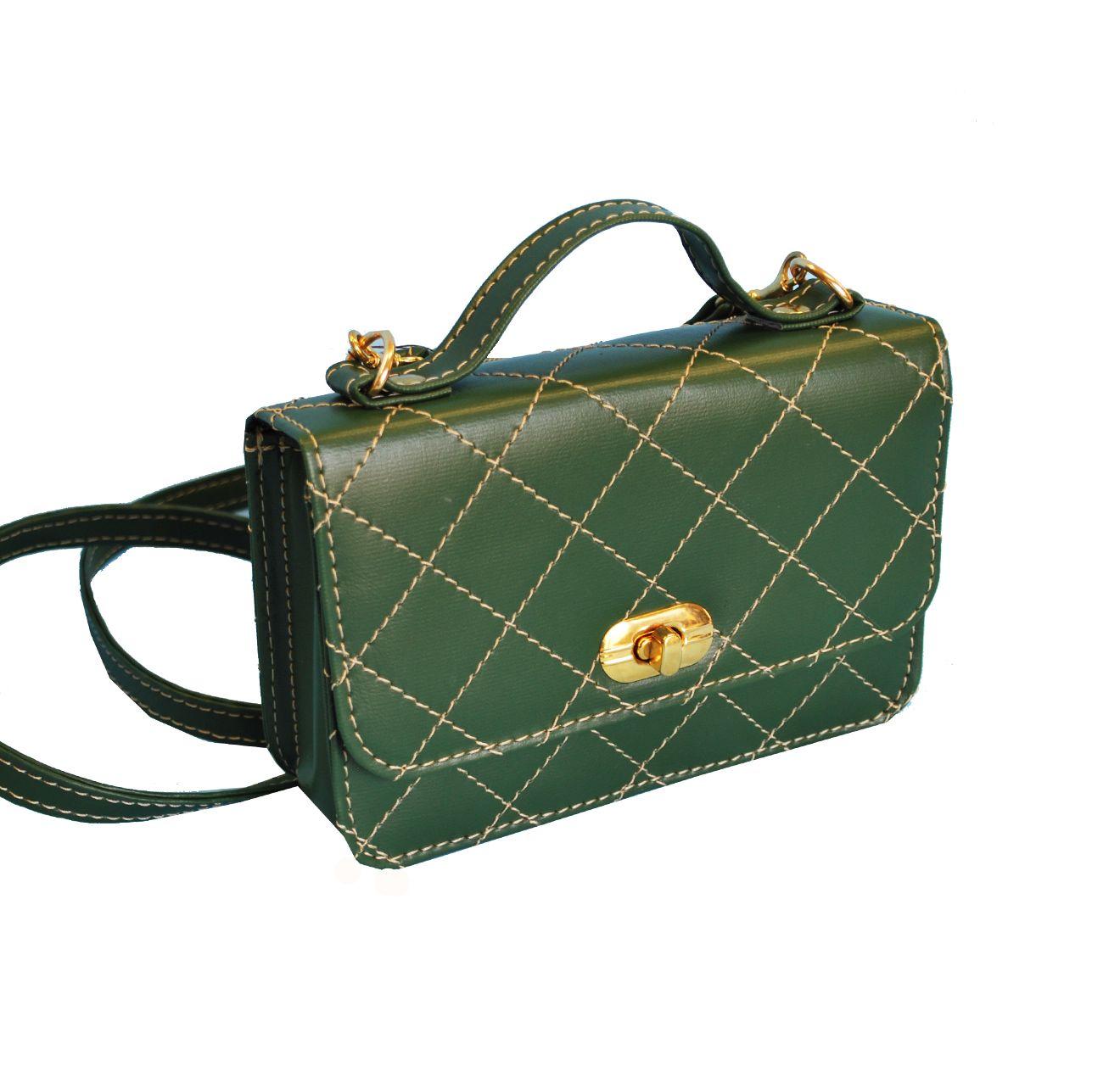Luxusná dámska kabelka crossbody 8679 v zelenej farbe  f44e53ea4da