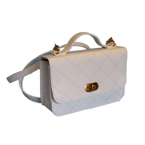 Luxusná dámska kabelka crossbody 8679 v bielej farbe