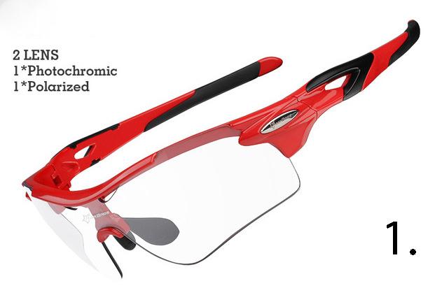 Fotochromatické polarizované slnečné športové okuliare v rôznych farebných prevedeniach