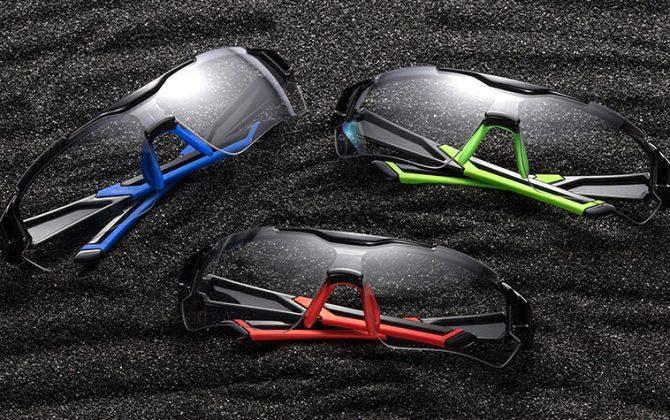 Fotochromatické slnečné športové okuliare v troch rôznych farbách