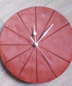 Ručne vyrobené nástenné hodiny – Terracotta pure
