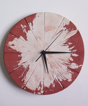 Ručne vyrobené nástenné hodiny – Terracotta explosion