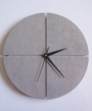 Ručne vyrobené nástenné hodiny – Pure concrete quatro