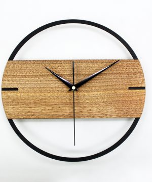 Jedinečné moderné drevené nástenné hodiny