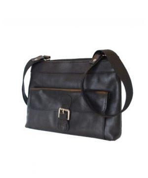 Luxusná kabelka z pravej kože č.8417 v čiernej farbe