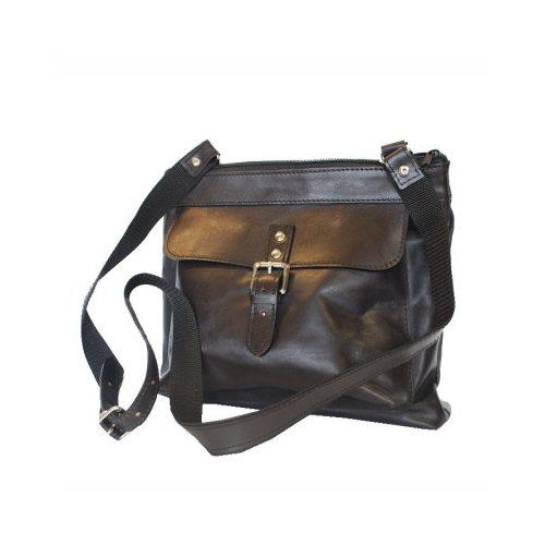 Luxusná kabelka z pravej kože č.8416 v čiernej farbe