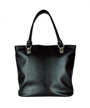 Luxusná kabelka z prírodnej hovädzej usne 8710, čierna farba