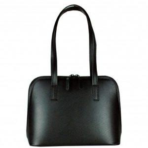 fb62c17408 Luxusná kabelka z prírodnej hovädzej usne saffiano v čiernej farbe