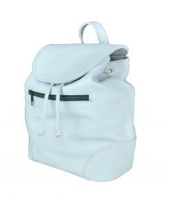 Kožený batoh v perlovej farbe (jemne sivá) (3)