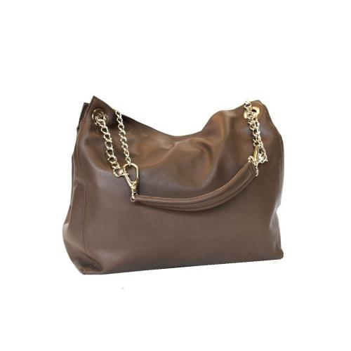 Luxusná kožená elegantná kabelka č.8246 v hnedej farbe  f412df0d8d4