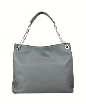 Kožená elegantná kabelka č.8246 v šedej farbe