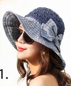 Elegantný dámsky slamený klobúk v štyroch rôznych farbách