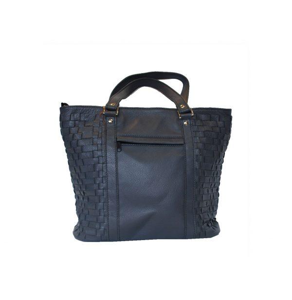 04f6590e45 Luxusná pletená kožená kabelka č.8633 v tmavo modrej farbe · Luxusné ...