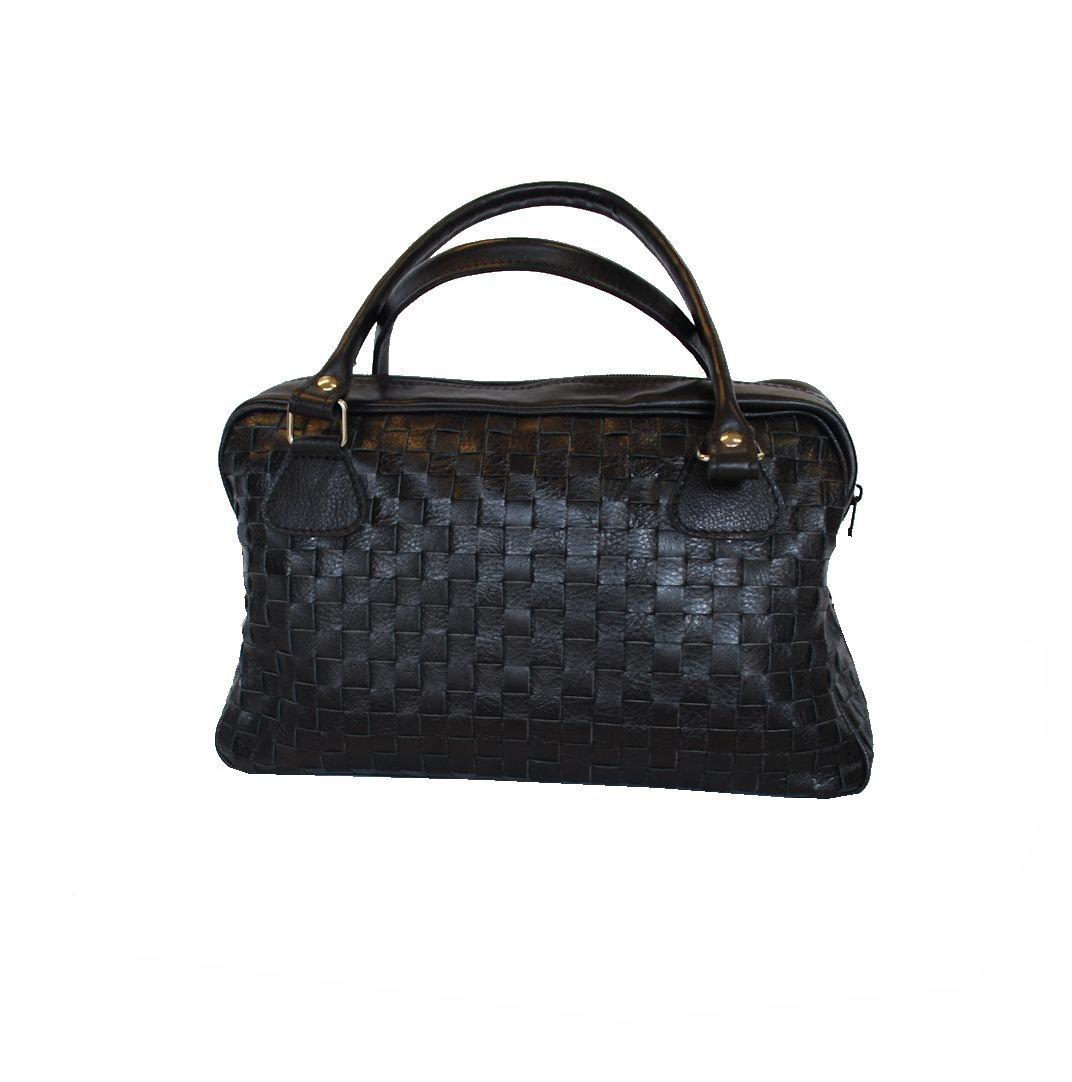 87ac623c7f Luxusná tkaná kožená kabelka č. 8558 v čiernej farbe · Luxusné a ...