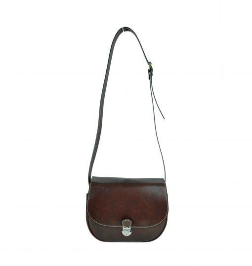14a683804aec Luxusná rustikálna kožená kabelka