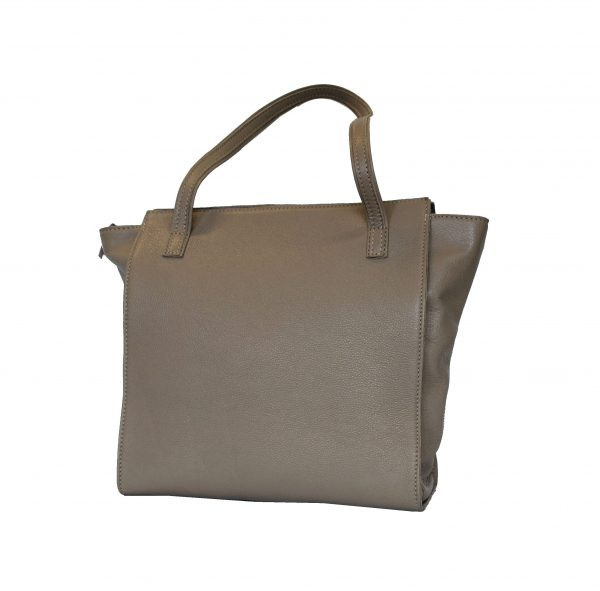 Luxusná dámska kožená kabelka č.8626 v šedej farbe