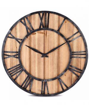 Unikátne drevené nástenné hodiny