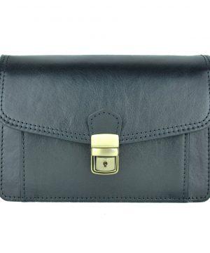Luxusná kožená etua č.7883, viacúčelové púzdro v čiernej farbe (1)