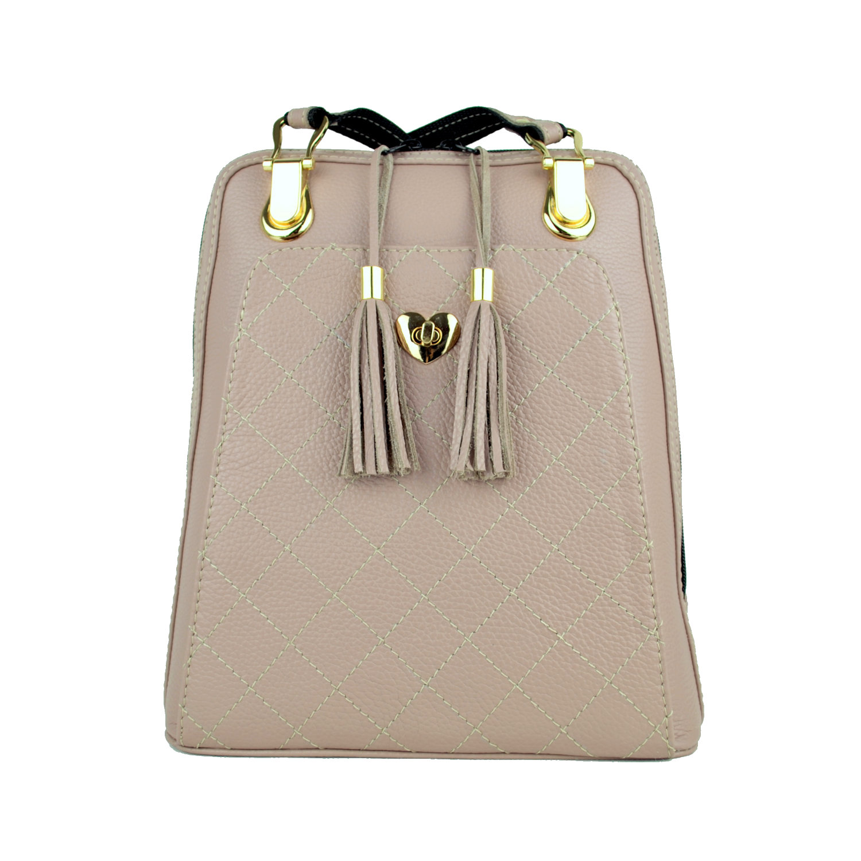 56a46fed1c Kožený batoh z pravej hovädzej kože č.8668 v ružovej farbe · Luxusné ...