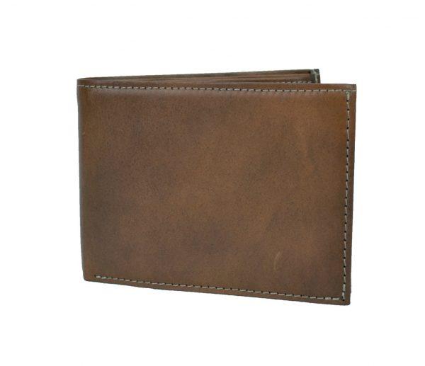 Elegantná peňaženka z pravej kože č.8552 v hnedej farbe (2)