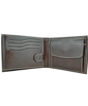 Elegantná peňaženka z pravej kože č.8552 v tmavo hnedej farbe (1)
