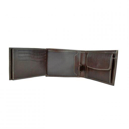 3f27e4f17a Elegantná peňaženka z pravej kože č.8552 v tmavo hnedej farbe (1). Elegantná  ...