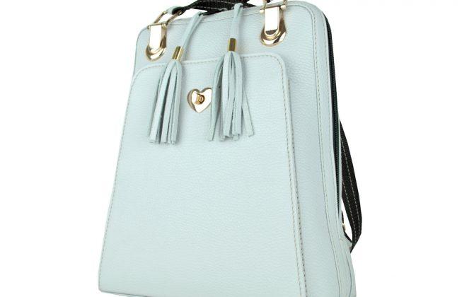 Kožený batoh z pravej hovädzej kože č.8668 v perlovej farbe (1)